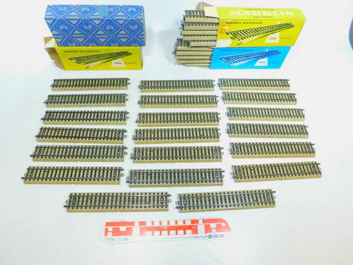 Details about BY569-2 #40x märklin H0/AC 5106 Track Piece / Rail M Track  Straight
