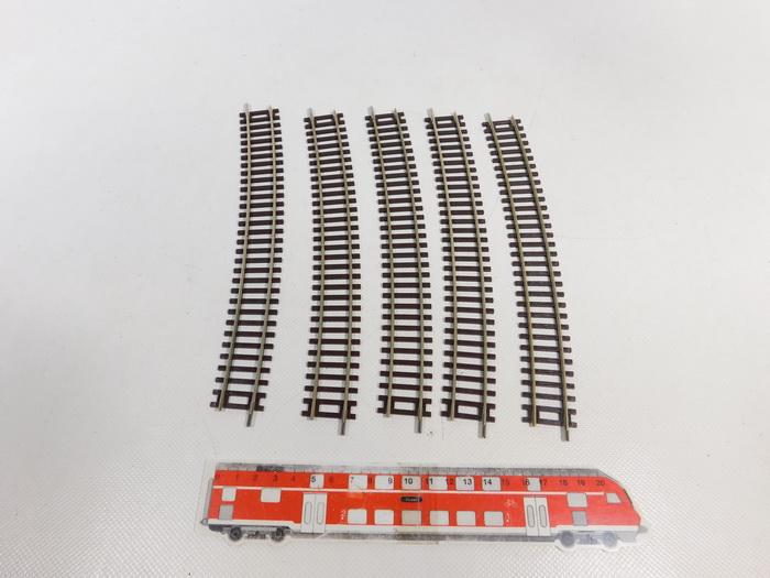 15° r = 888 mm 12 Stück OVP Roco H0 42428-S Gebogenes Gleis R10 - NEU